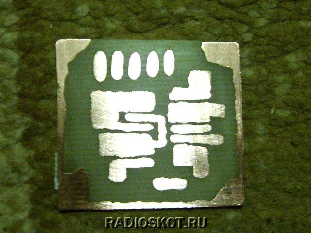 Печатная плата проверенного металлоискателя на микросхеме.