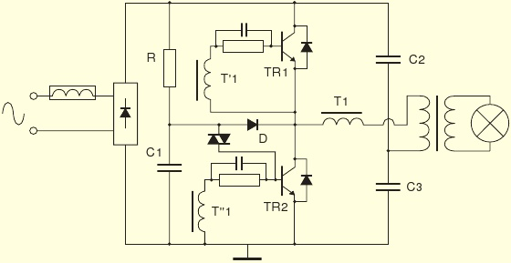 Lt b gt схема lt b gt электронного lt b gt трансформатора lt b gt для галогенных ламп