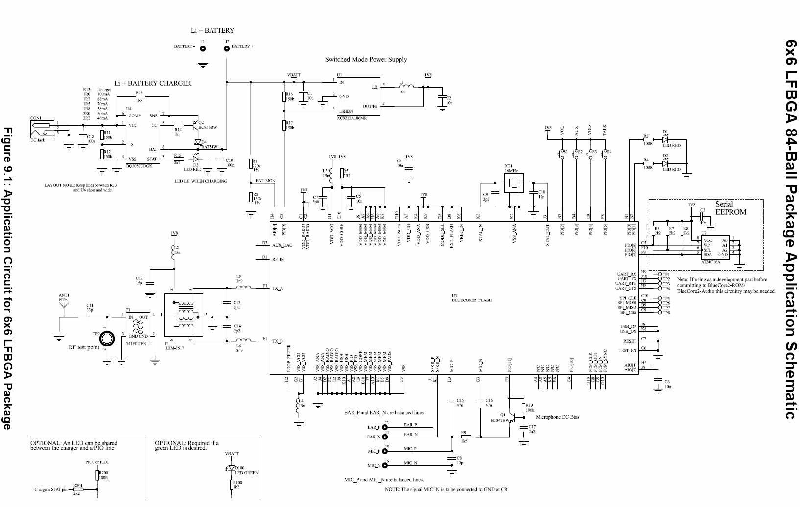 Схема радиомодуля Bluetooth