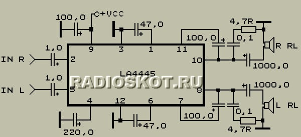 микросxема LA4445