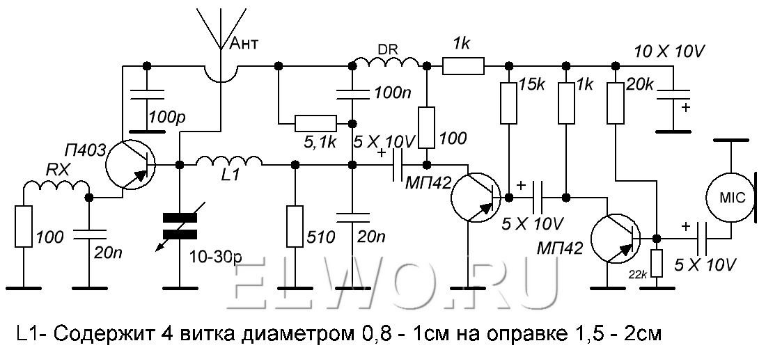 Схема радио передатчика