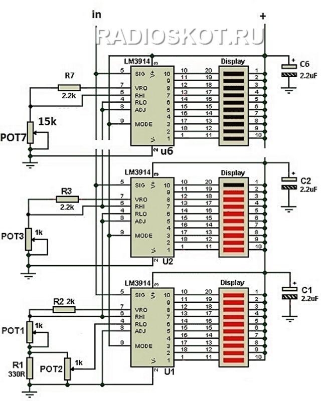 Структура микросхемы LM3914: