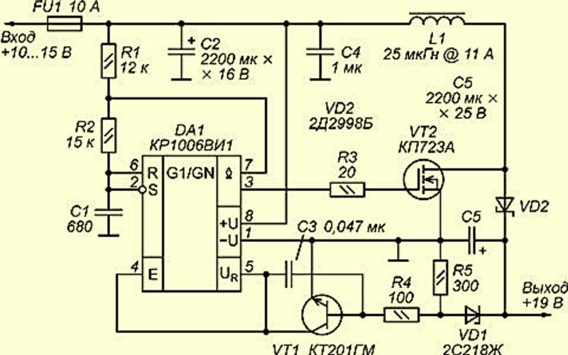 Электрическая схема адаптера