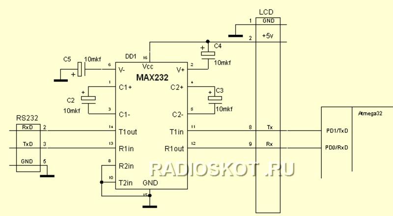 схему адаптера для COM порта