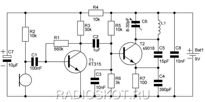 электрическая схема жучка