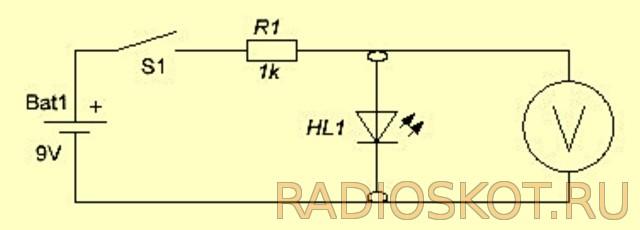 Схема приставки LED тестера