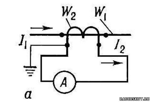 Изображение на схемах трансформатор тока