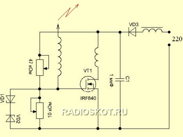 транзисторе - схема