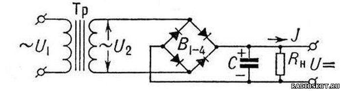 Схема двухполупериодный выпрямитель мостовая схема