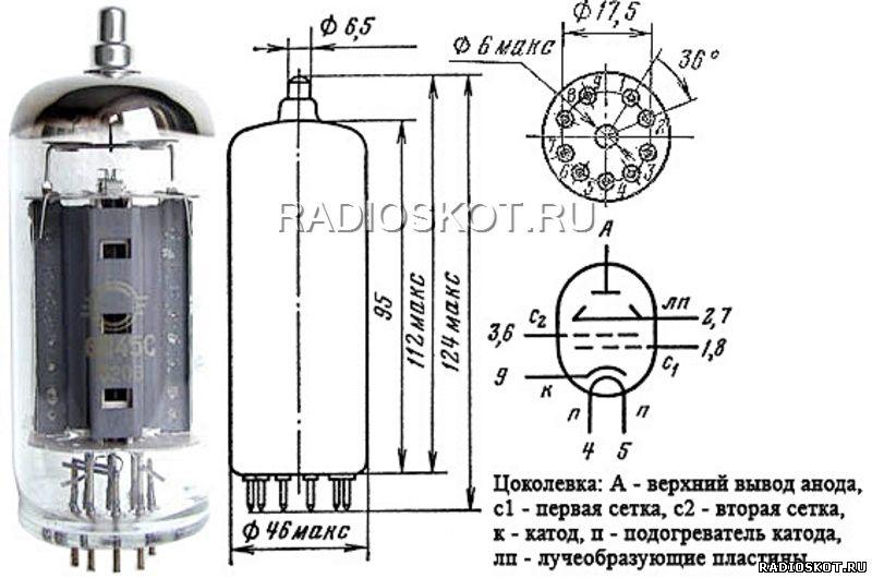 Цоколёвка радиолампы 6П45С