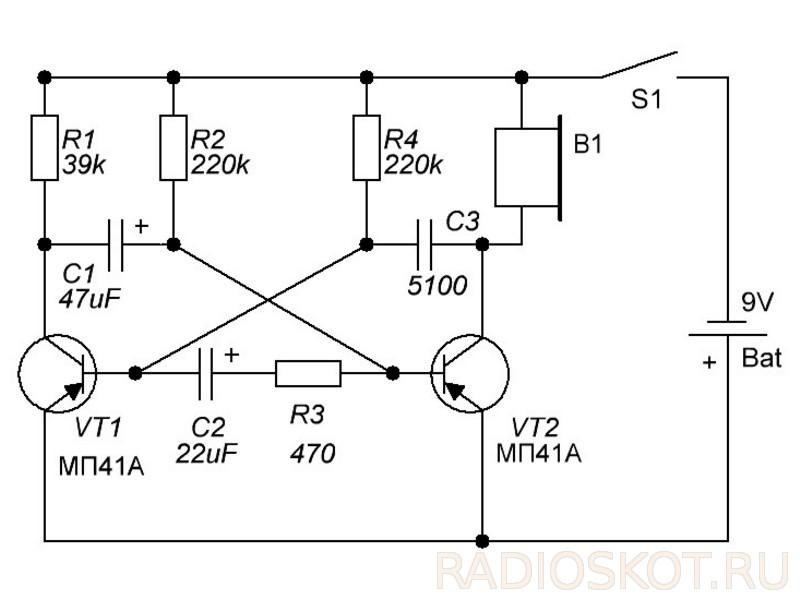 Простейшие электронные схемы с описанием работы6