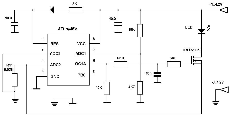 Схема драйвера на МК