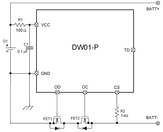 DW01-P схема питания