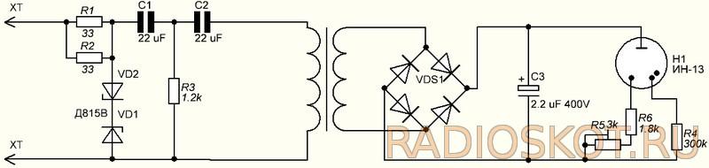 Схема простого тахометра