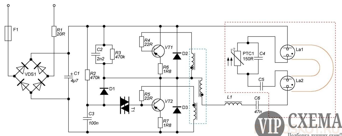 светодиодная лампа схема драйвера