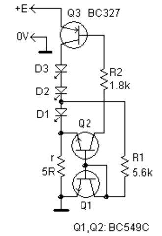 Стабилизатор тока светодиодов с малым падением напряжения
