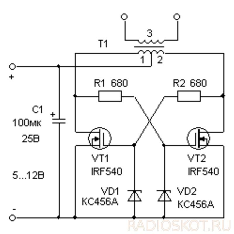Схемы сварочного инвертора на полевых транзисторах