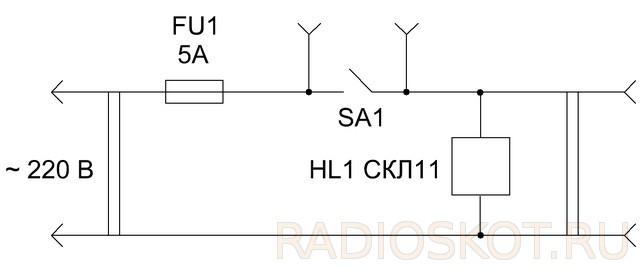 Схема приспособления измерения тока
