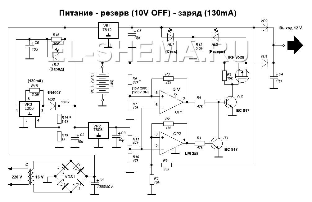 Автоматические ворота схема контроллера