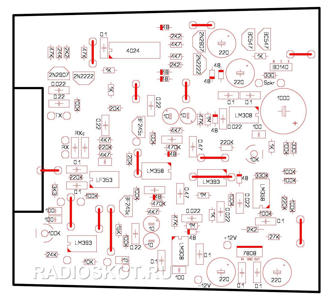 Металлоискатель тесоро схема