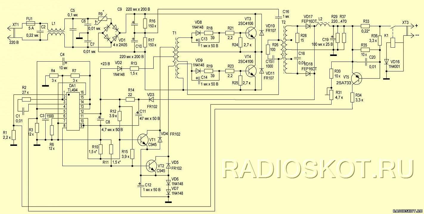 схема простой подзарядки для аккумулятора