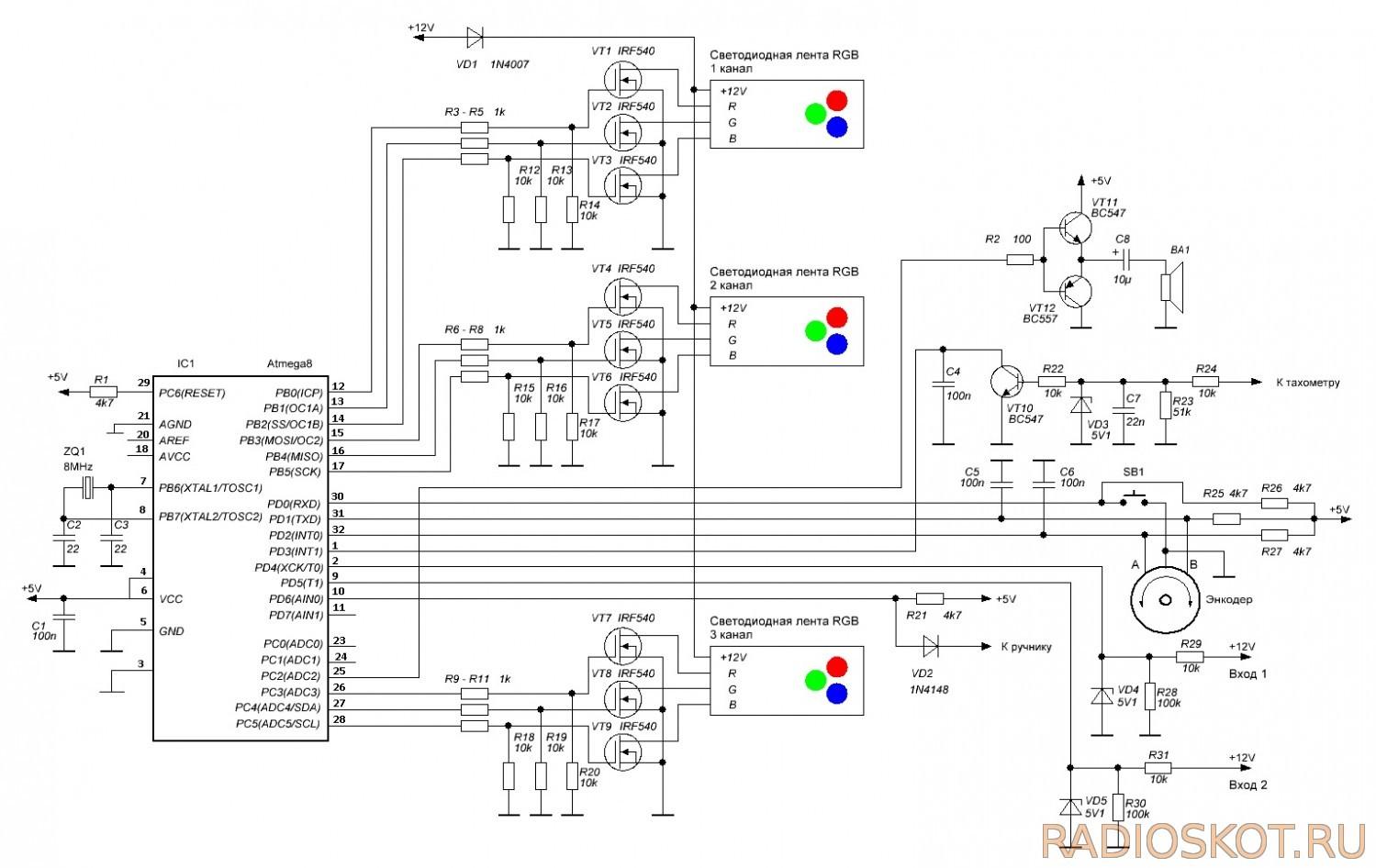 Светодиодная подсветка схема